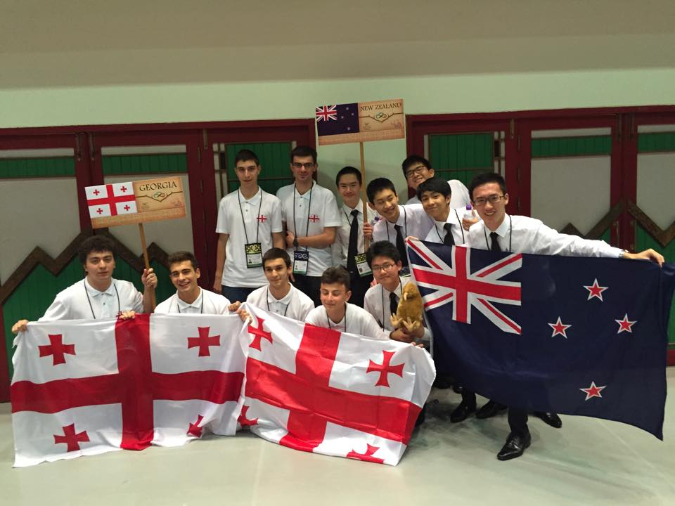The NZ team with the team from Georgia (the country)!