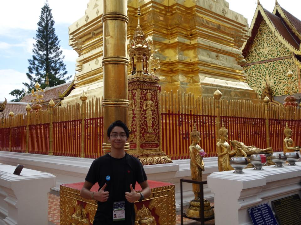 At the Wat Phra That Doi Suthep – Chiang Mai's most famous and important temple