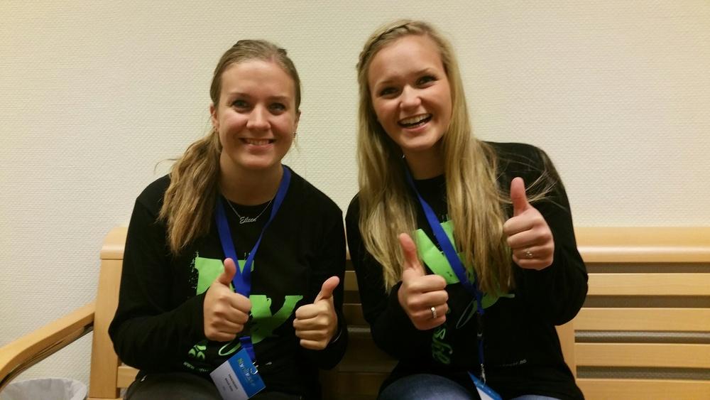 To flotte og kreative damer! F.v: Eileen Dale og Ane Olivie Oppheim.