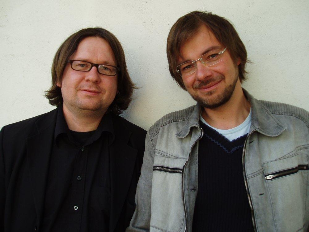 Finn Tokvam og Halvor Folgerø. FOTO: samlaget.no