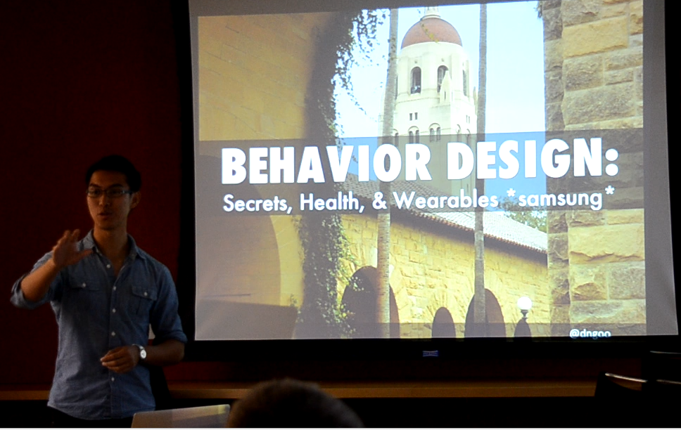 David Ngo,Co-Founder & Chief Behavior Designer David created alongside Dr. BJ Fogg the first Behavior Design major program at Stanford University. Since 2011, he has worked with a range of companies and verticals: from Fortune 500's, to academic research products, to startups, to non-profits, to government. David's expert focus is in David enjoys salsa dancing, meditation, and is finishing up his 1st book with Dr. BJ Fogg on the 7 core methods of Behavior Design.