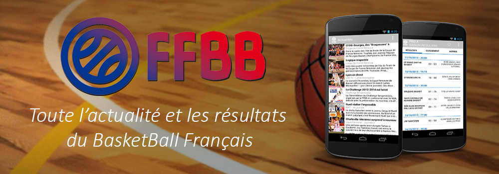 L'application officielle de la Fédération Française de BasketBall