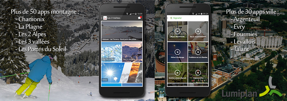 Lumiplan : Application d'information pour les stations de ski et pour les villes
