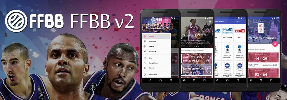 Refonte complète de l'application de la Fédération Française de BasketBall. Projet suspendu, sortie prévue fin 2016 / Début 2017