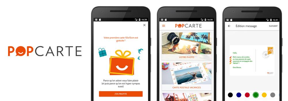 Popcarte : Application de cartes postales