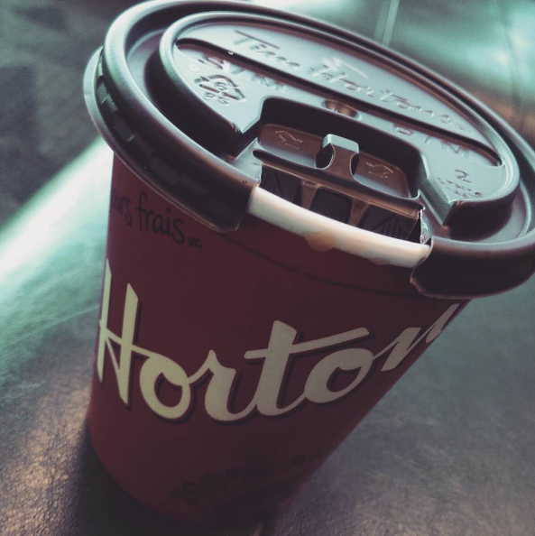 A photo of my last Canadian-side Tim Hortons, August 2015.