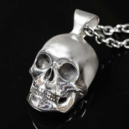 Mr mojo silver skull pendant necklace dead ringers mr mojo silver skull pendant necklace mozeypictures Images