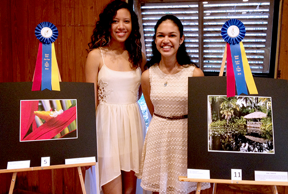 Brittany Duffy (right) won First Place; Alyssa Camacho (left) won People's Choice