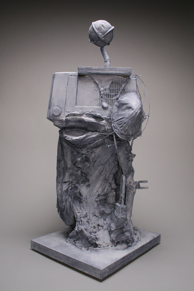 Yuen , 2012 Found objects, raw clay, plaster, cloth, and wax 11 x 12 x 27.5 inches