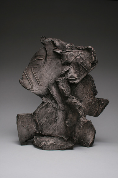 Untitled (S-CR_0021) , 2012 Stoneware with wax patina 9 x 4.5 x 12.5 inches