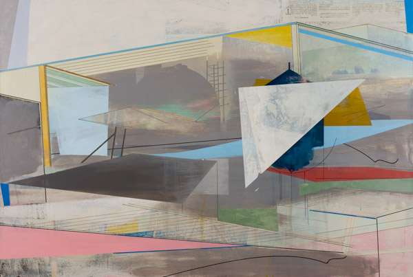 Under Eaves , 2011 Acrylic on linen 24 x 36 inches