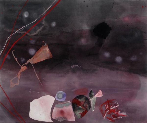 Rain , 2011 Mixed media on canvas 70 x 60 inches