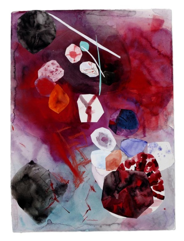 Red , 2010 Mixed media collage on paper 22 x 30 inches