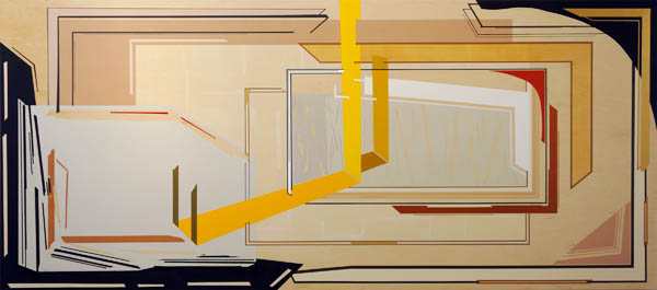 "Rare, 2012 Acrylic on wood panel    84"" x 36"""