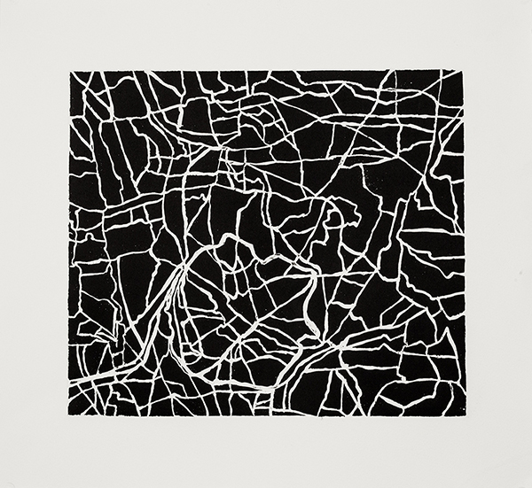 Farmlands 2,  2015 Sugar lift with surface roll, plate size: 10.25 x 11.75, paper size: 14.75 x 16 inches, variable edition