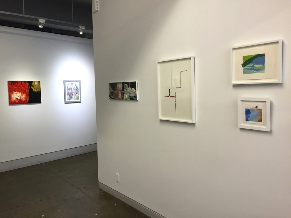 Small Works installation view  Left to Right: Samira Abbassy, Jessie Brugger, Michael Eade, Javier Romero, Patty Cateura, Lauren Gohara
