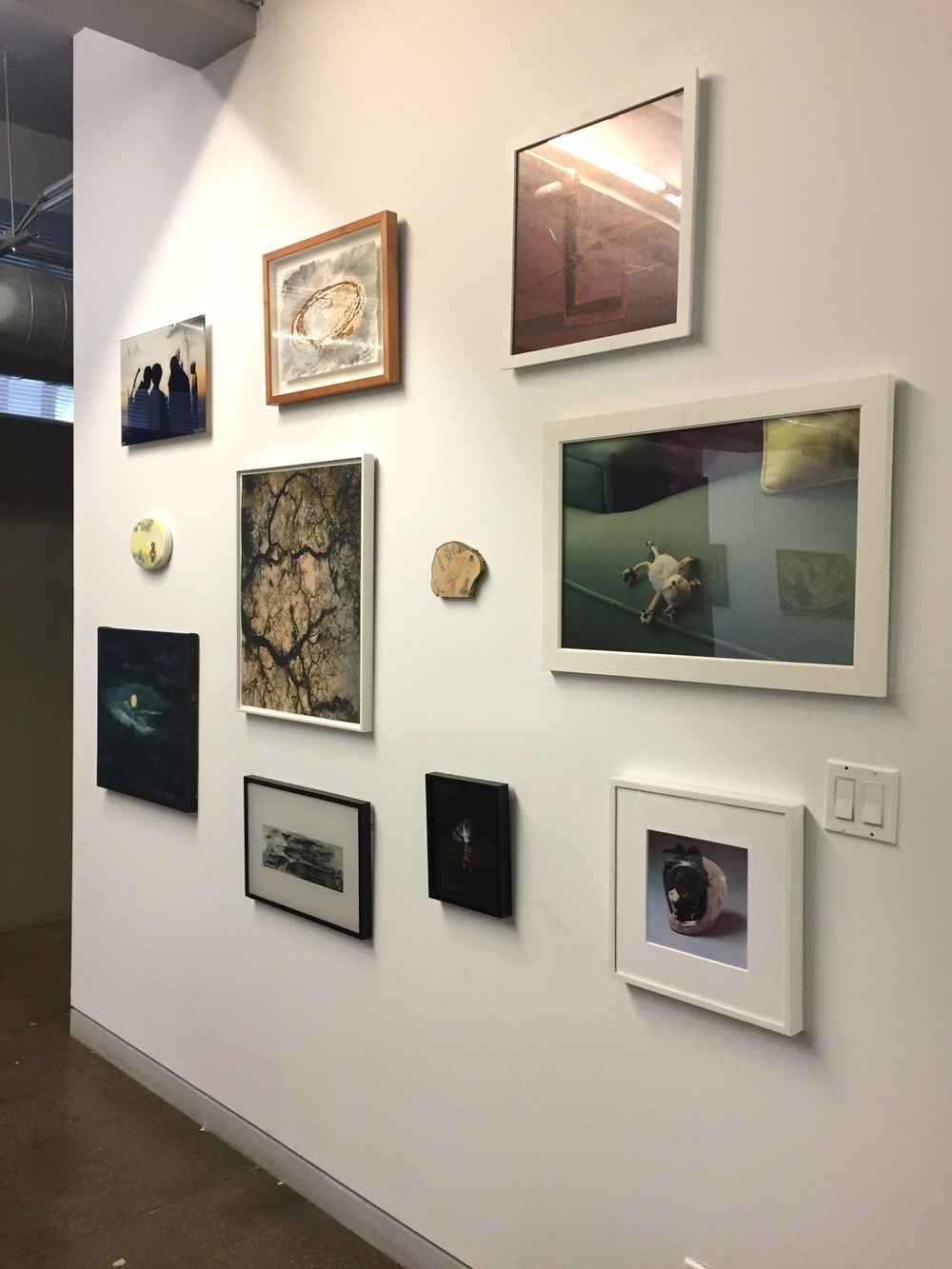 Small Works installation view  Featured artists: Liselot van der Heijden, Patricia Leighton, Jonathan Ehrenberg, Jeanette May, Eunjung Hwang, Beth Ganz, Cecile Chong, Greg Kwiatek, Vicky Colombet, Rhona Bitner, Keren Benbenisty