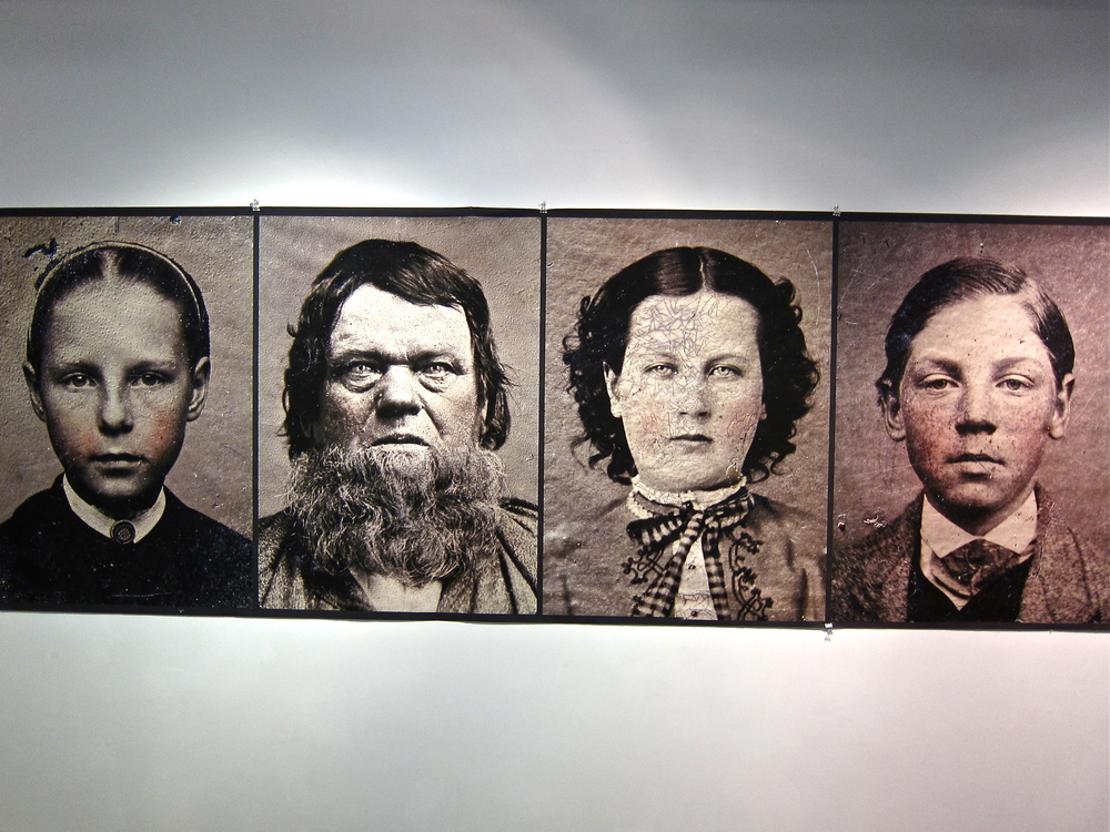 "Bryan Whitney Tintype Portraits Digital print on fabric 36"" x 50"""