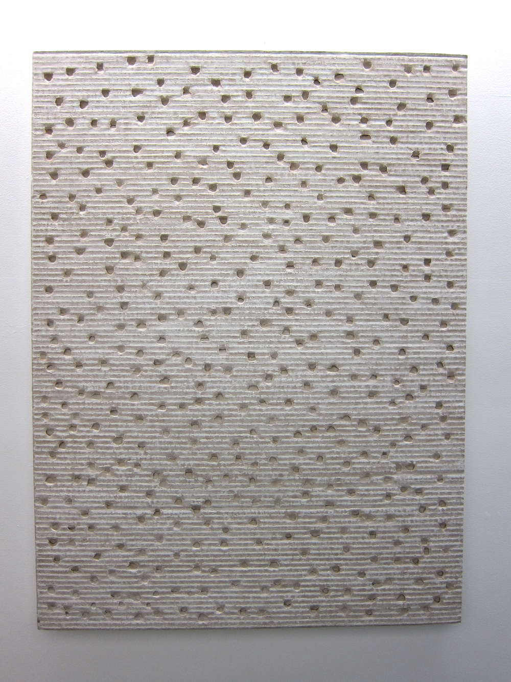 "Tamiko Kawata Vertical Sound Cardboard and acrylic 39"" x 40"""