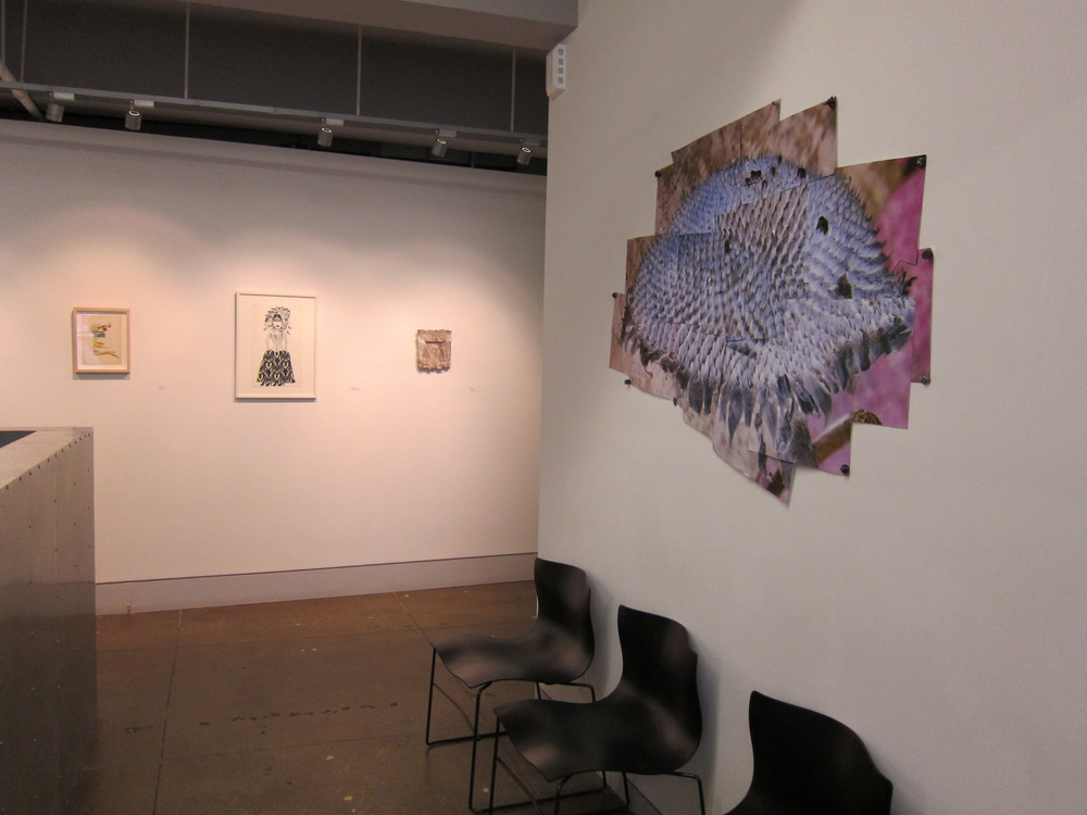 Right: Ana Golici Third Sunflower, Maturity Collage of digital prints 2011