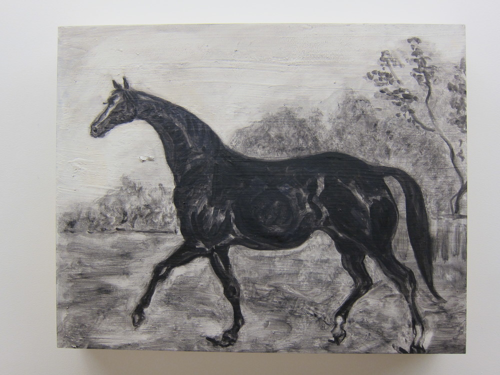 "Shai Zurim Horse Oil on board 16"" x 20"" 2011"