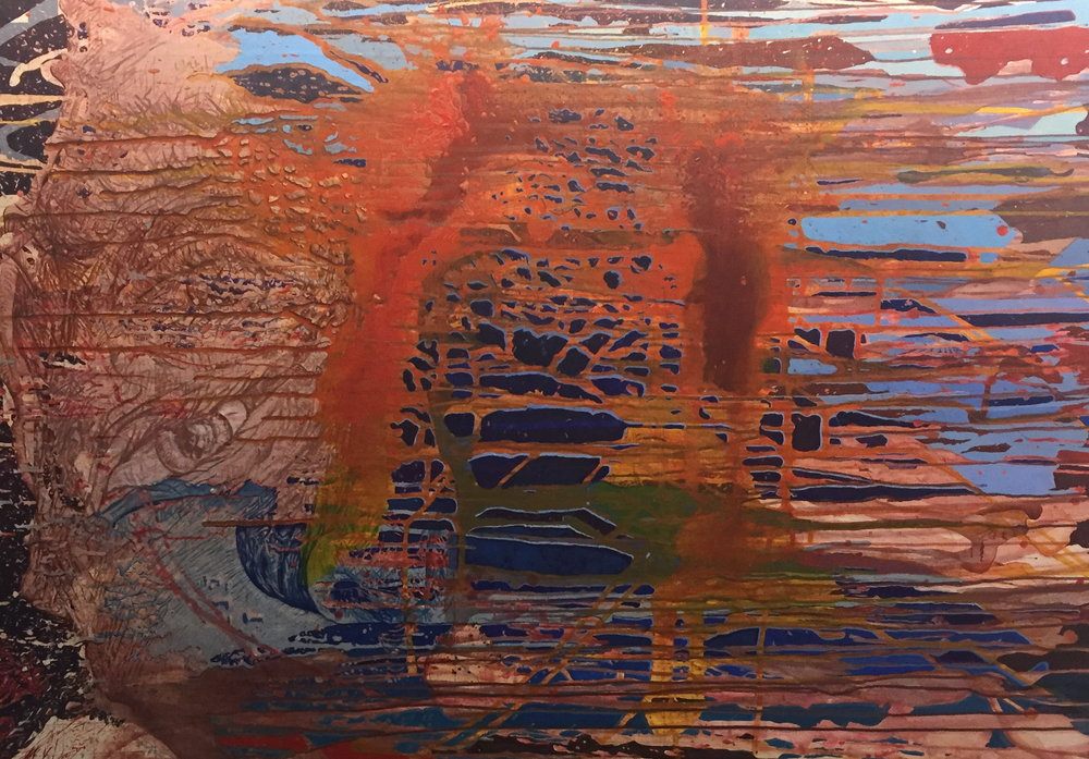 Justin Sanz  50-65% Water  Acrylic on Linen 2016