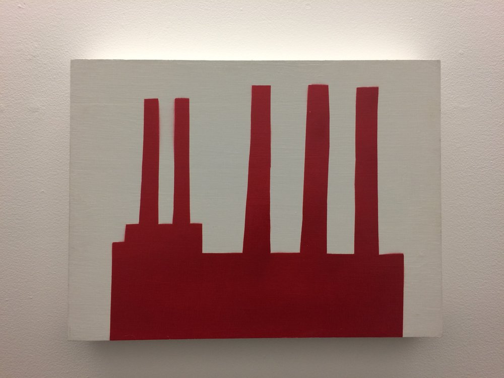 Bill Carroll  Red 28  Spray Paint on Panel 2014