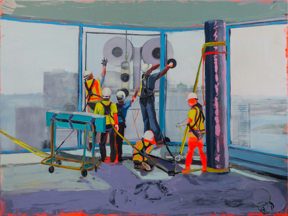 Men at Work  2017, oil and acrylic on canvas  54x72 inches