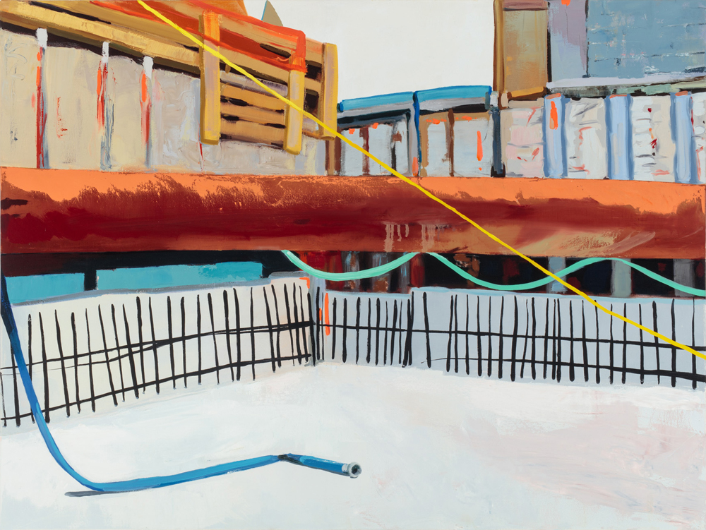Big Pipe  2015, oil on canvas  36x48 inches