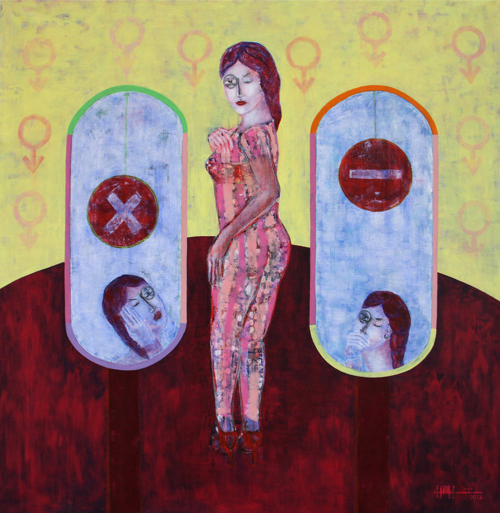 Women,  2016 Acrylic On Canvas 150 x 150 cm