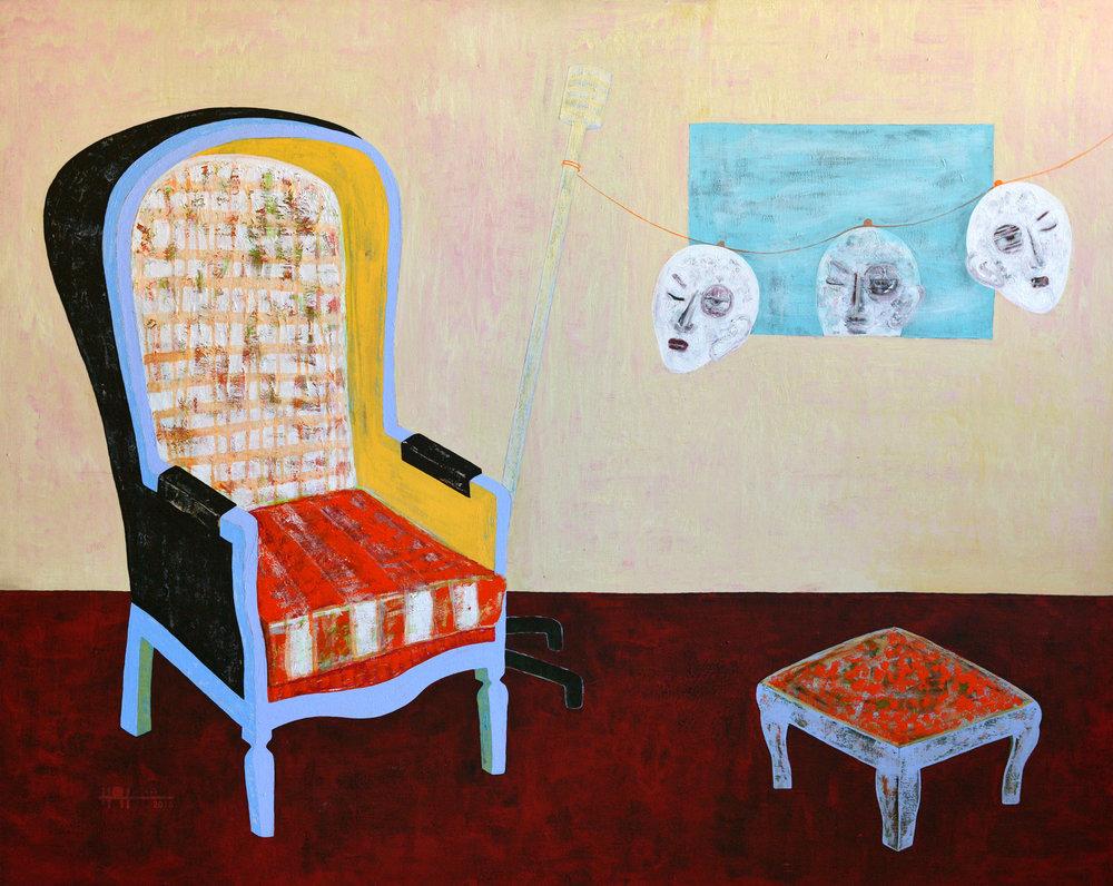 Emptiness,  2016 Acrylic On Canvas 120 x 150 cm