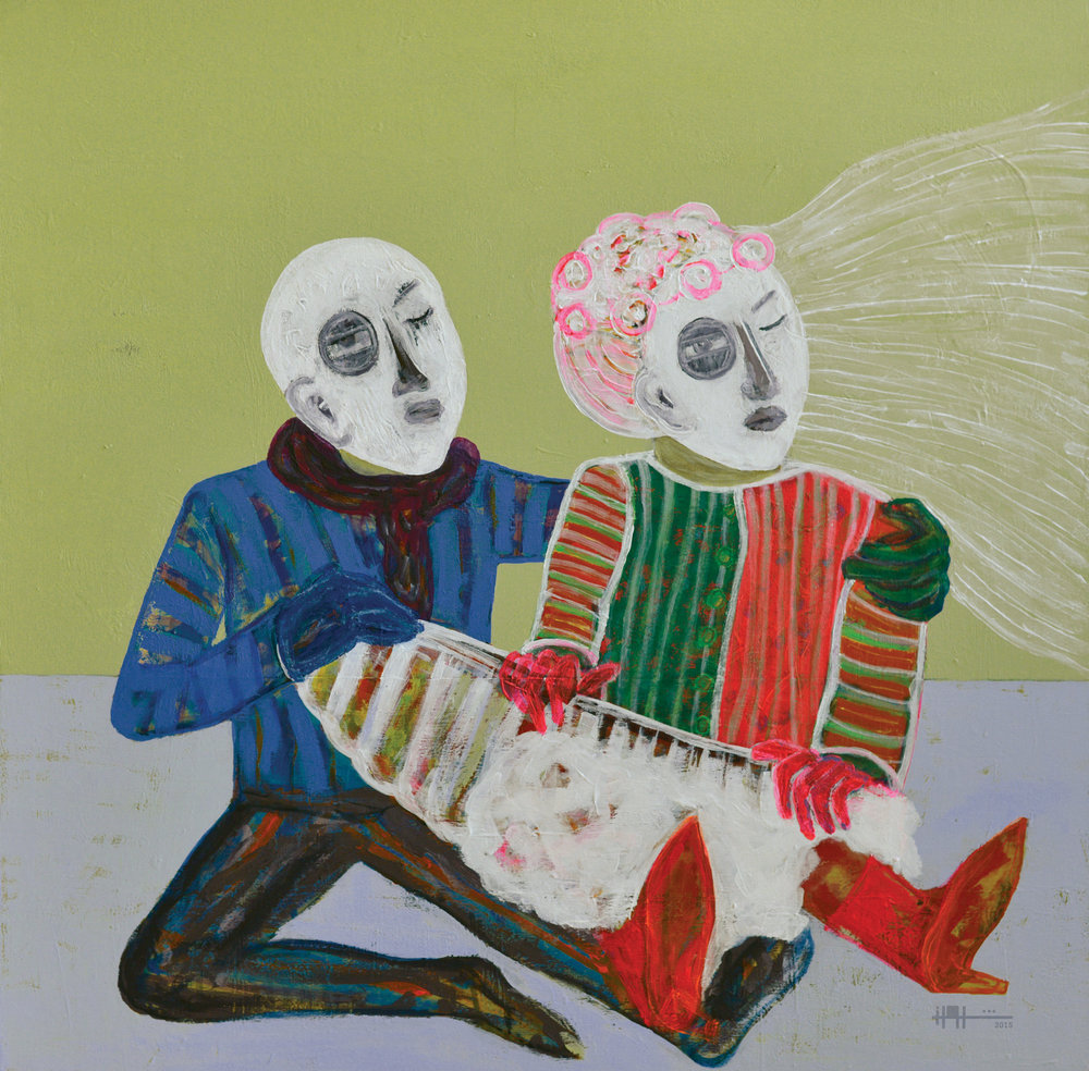 Early Marriage , 2015 Acrylic On Canvas 80 x 80 cm