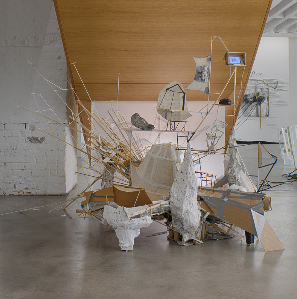 After Lebbeus: A Model for Drawing , 2014 Installation view Open Sessions, Drawing Center