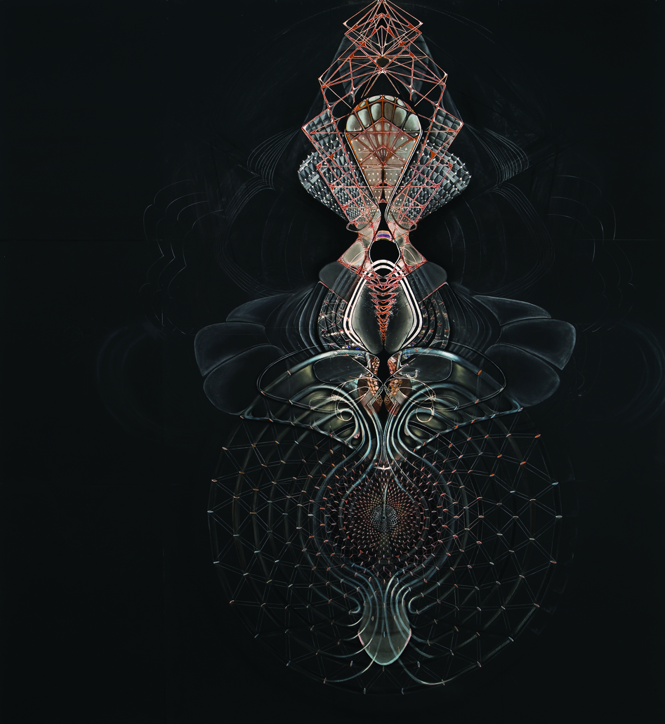 Satorin's Constant , 2015, graphite, gouache, and pastel on paper, 88 x 90""