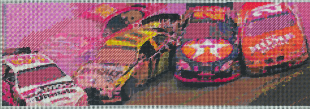 Maria Piñeres,   Nascar     (2010), Cotton floss on paper, Courtesy the artist and DCKT Contemporary