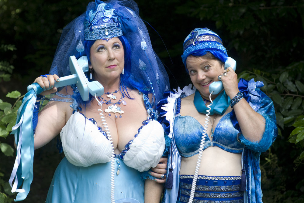 Image: Beth Stephens and Annie Sprinkle, Blue Wedding to the Sea, 2009.