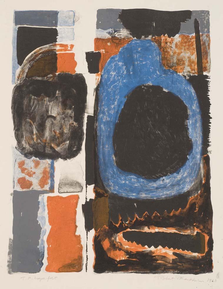 Bob Blackburn, Faux Pas, (1960)Color Lithograph