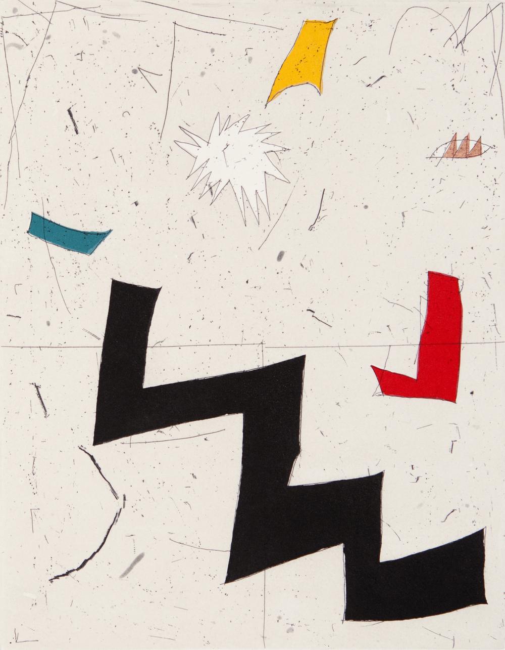 Joseph Hart Bad Math II, 2012 Color Intaglio with Chine Collé