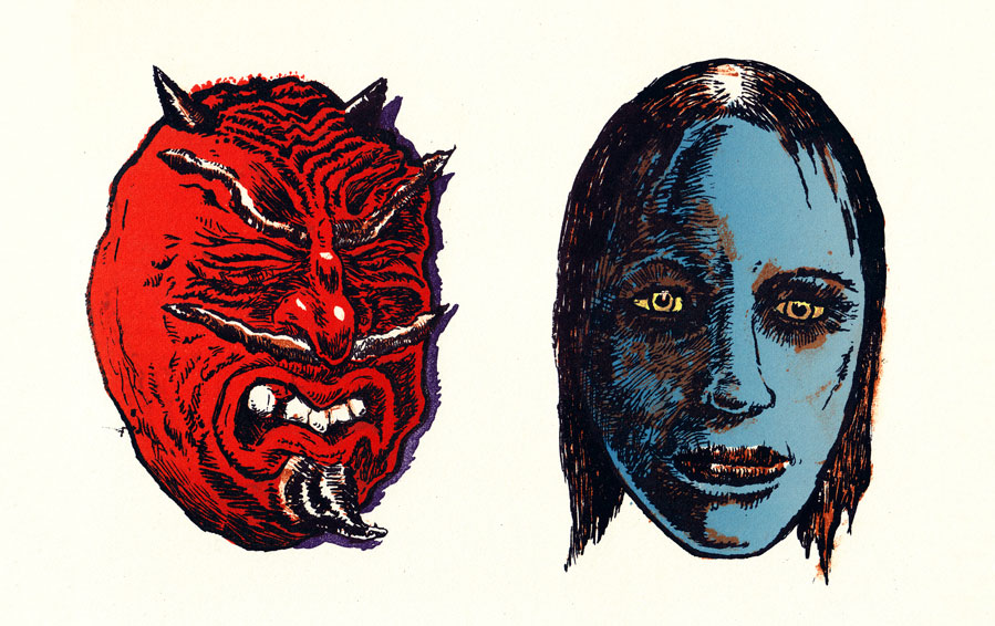 Gary Leib,  Devil and Vamp Girl  2014, Pronto Plate Lithograph