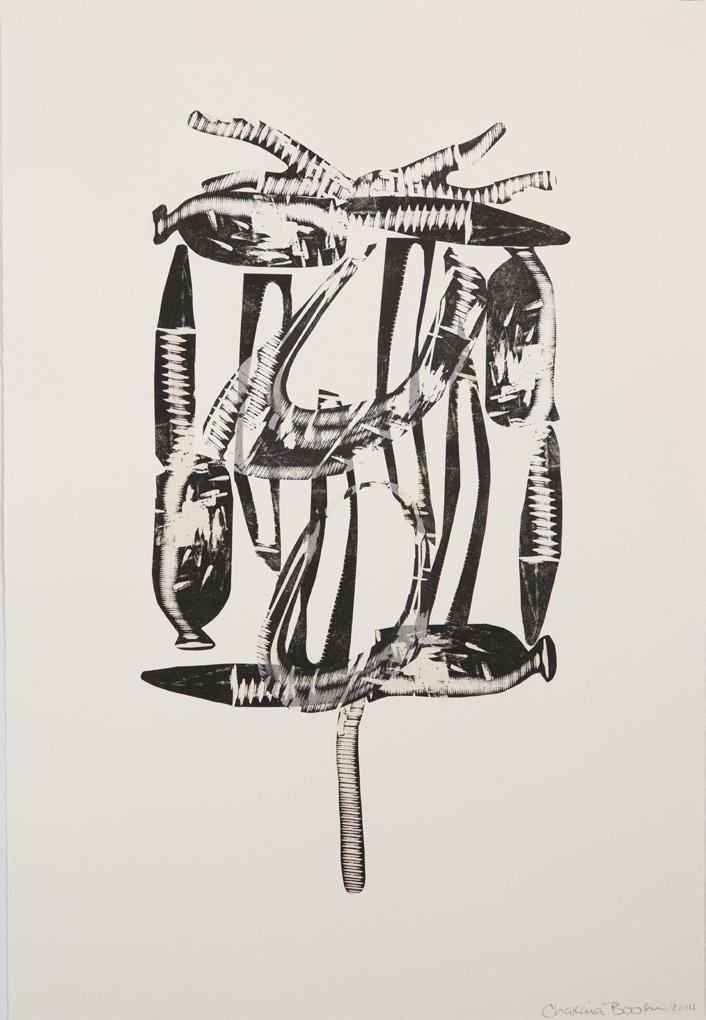 Chakaia Booker,Untitled2014 Print ID: CB.8.14