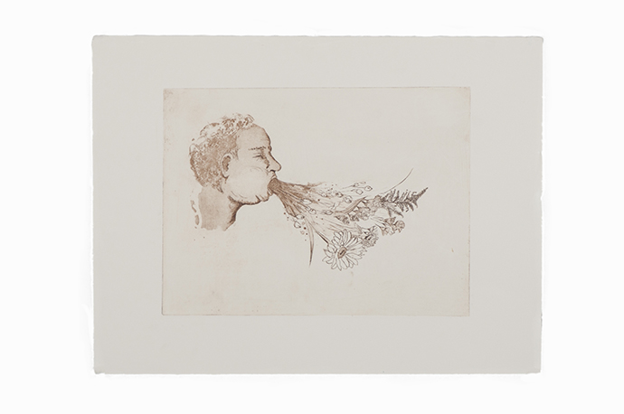 Jazmine Catasus   Untitled (Purge series #1) , 2014 Etching on cotton rag paper