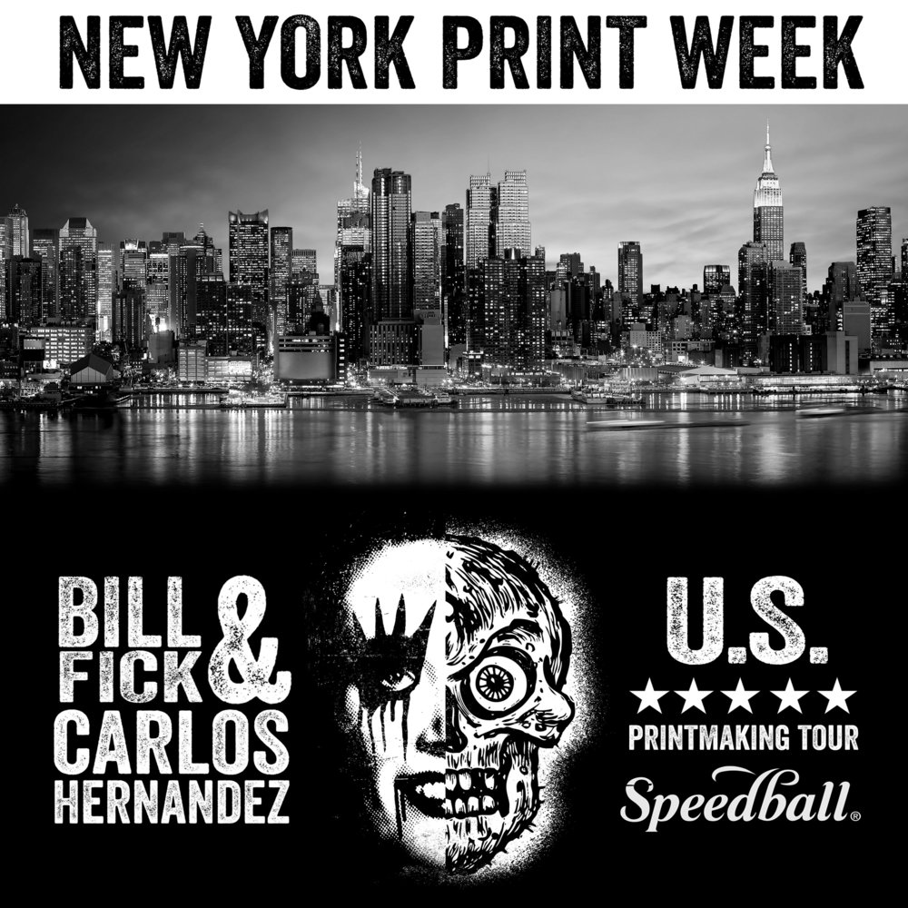 FREE PRINTING w. Bill Fick and Carlos Hernandez  26 - 27 OCTOBER 3-6PM