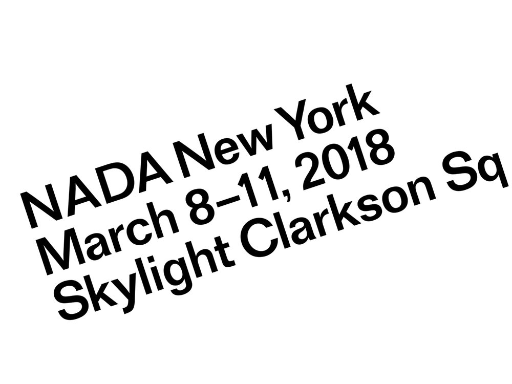 Cultural Partnership with NADA NY  2018