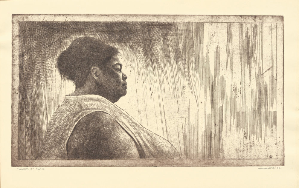 Charles White.  Missouri C.  1972; Etching.