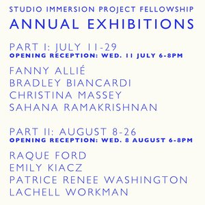 SIP Fellowship Annual Exhibition PART 1  July 11 - 29, 2018