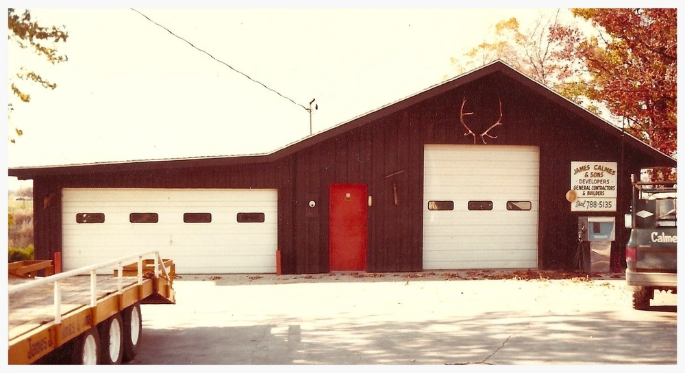 The first James J. Calmes and Sons shop built in 1970.