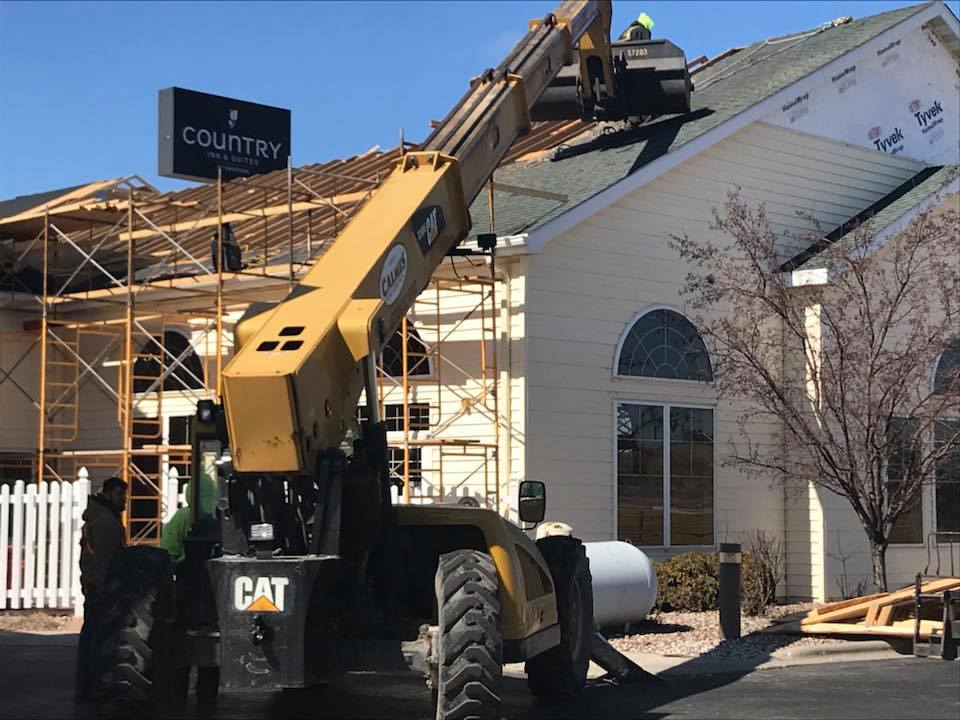 Exterior Roof: Hotel Contstruction