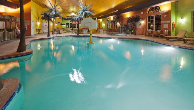 Interior Pool Area: Hotel Construction
