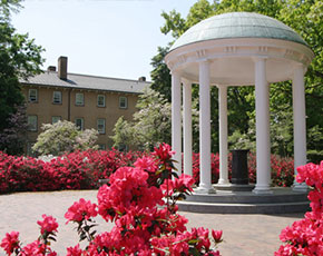 The Old Well, UNC, in the spring time, where the wisdom quest first began for Tom, in his Freshman Year as a Morehead Scholar.