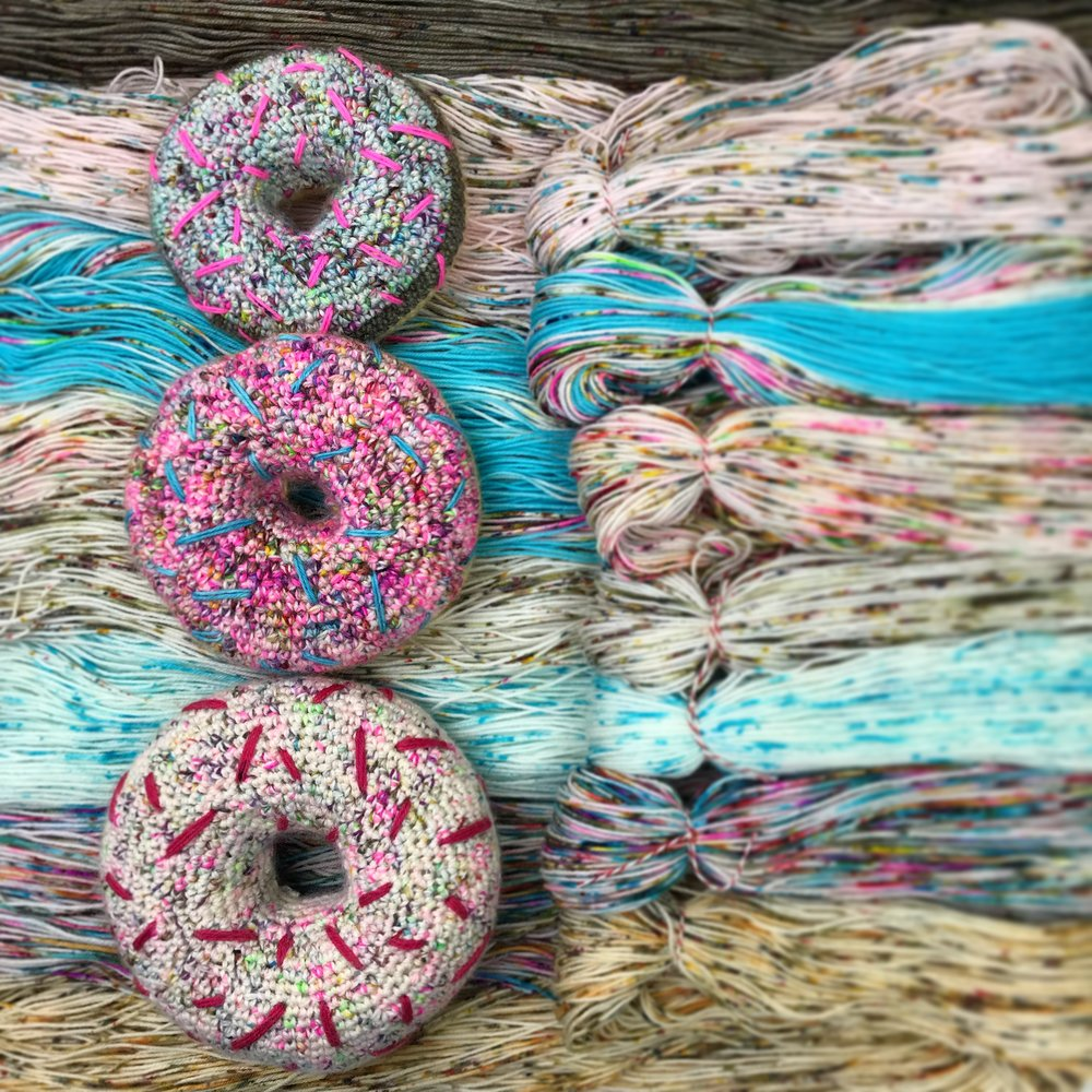 Crochet Doughnut Pattern release. - This squishy, calorie free treat will be available as a free downloadable pattern in the shop this month.
